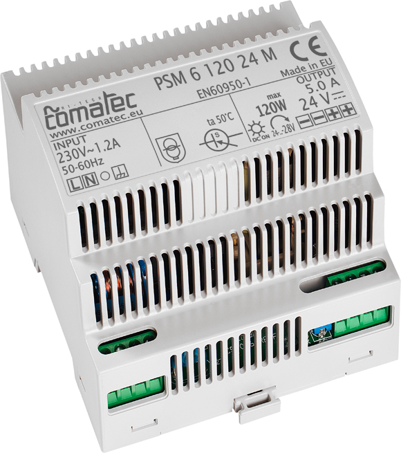 18.  DIN-RAIL POWER SUPPLY 96W  – 24 VDC WITH UNIVERSAL INPUT VOLTAGE