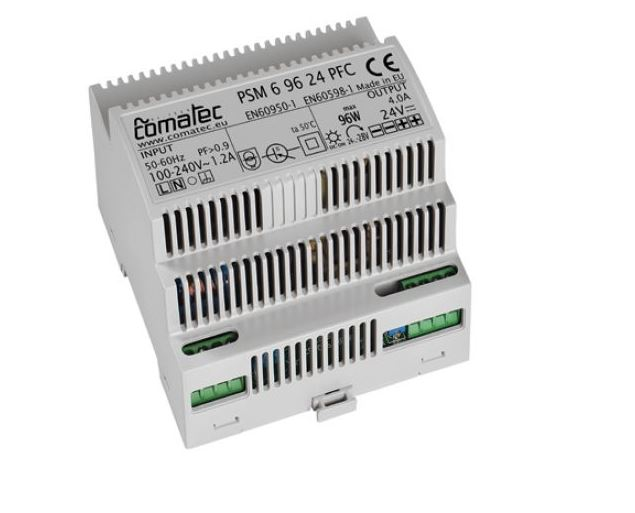16.  DIN-RAIL POWER SUPPLY 24 VDC - 96W WITH POWER FACTOR CORRECTION