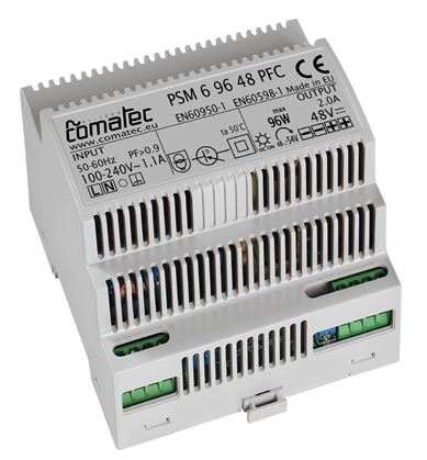 17.  DIN-RAIL POWER SUPPLY 48 VDC - 96W WITH POWER FACTOR CORRECTION